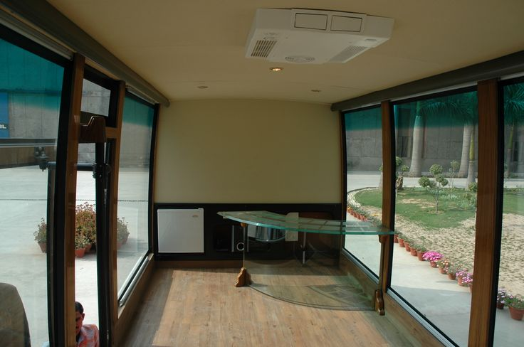 Inner view of #Display #van manufactured by #JCBL