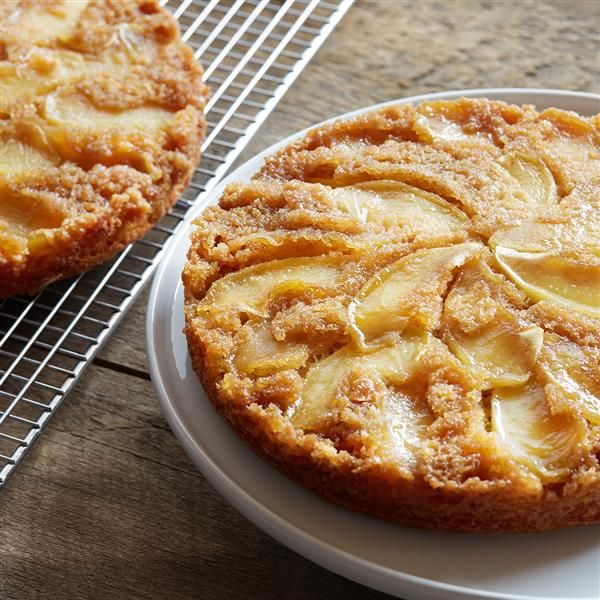 The fun's in making this Warm Caramel Apple Cake with your family! Available at Walmart.