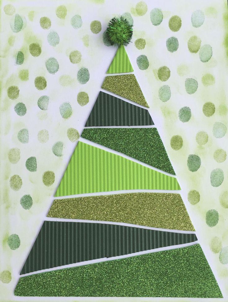 tapa arbre de nadal amb retall de goma eva de diferents textures