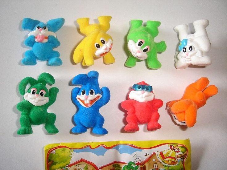Cute Easter Bunnies Felt 2008 Kinder Surprise Figures Set Figurines Collectibles   eBay