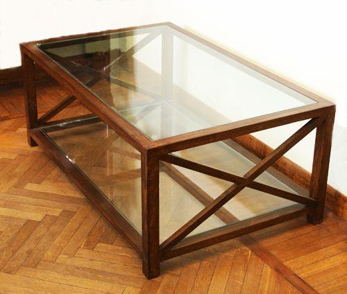 Tavolo legno e cristallo. Cm. 110x70 H.45. http://www.pisanogenova.it/catalogo/114-tavolo-legno-e-cristallo