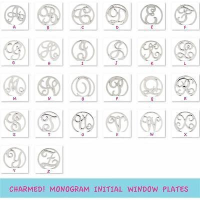 Charmed! Window Plate MONOGRAM INITIAL & Free Origami Owl Bag in Jewelry & Watches, Fashion Jewelry, Charms & Charm Bracelets | eBay