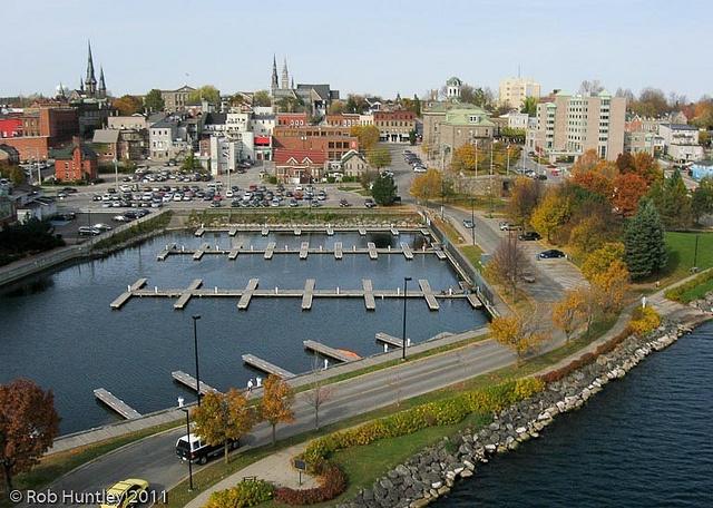 Aerial photograph - Marina at Blockhouse Island, Brockville, Ontario - Kite Aerial Photography (KAP)