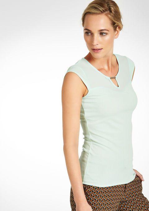 Effen T-shirt met korte mouwen - LolaLiza