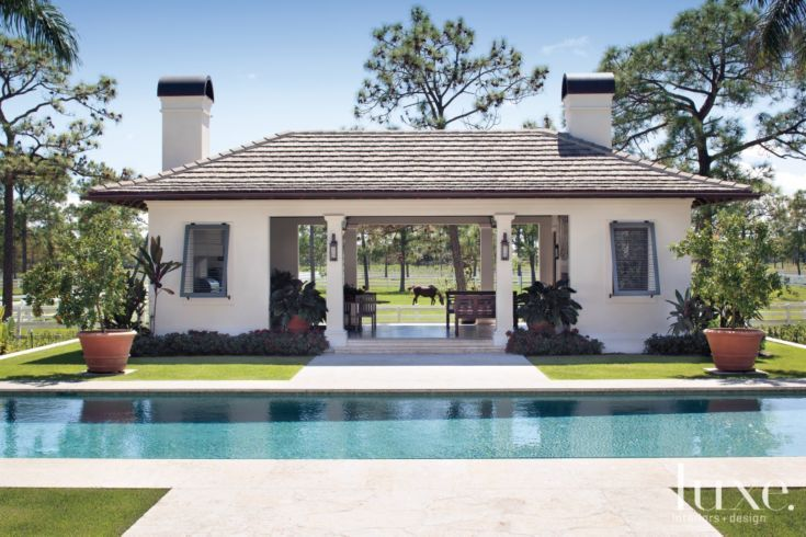 Plantation Style Pool Pavilion