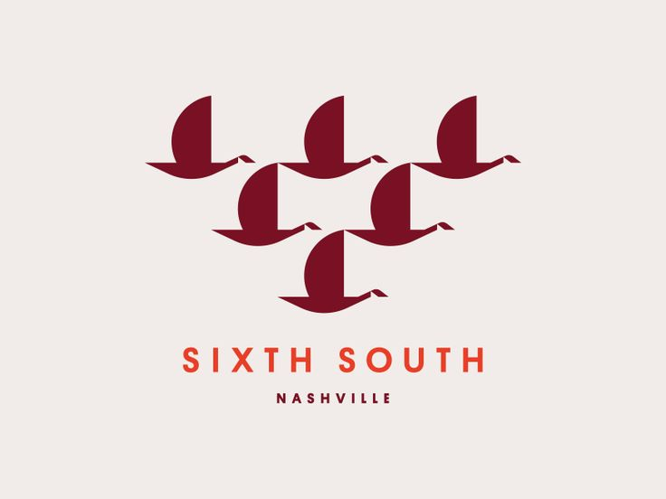 Sixth South by Jay Fletcher #logo #mark #brand #identity #logotype #symbol #animal #goose #bird #minimal