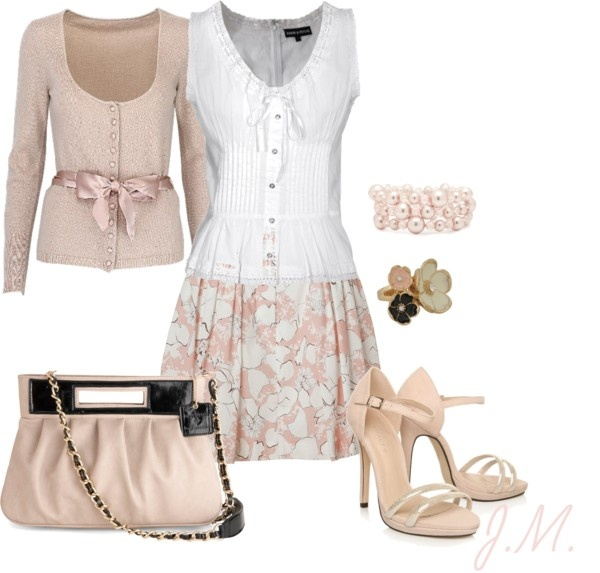 """""""Pink"""" by jenniemitchell on Polyvore: Feminine Outfits, Blouses, Engagement Outfits Spring, Teaching Outfits, Church Outfits, Easter Outfits, Cute Outfits, Dresses Trendy, Spring Outfits"""