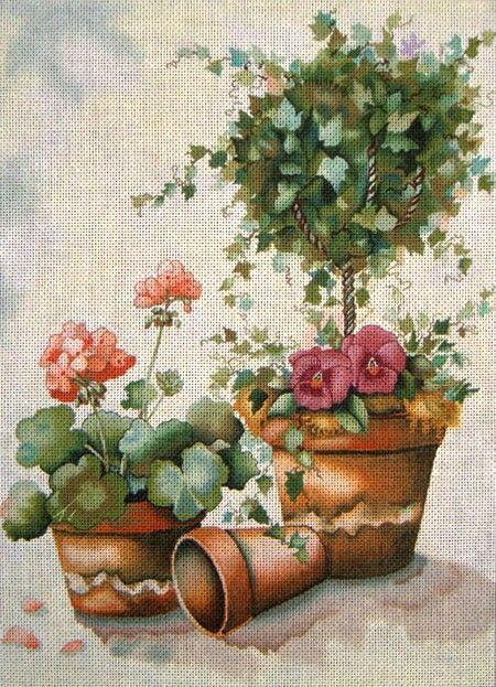 Topiario y flores