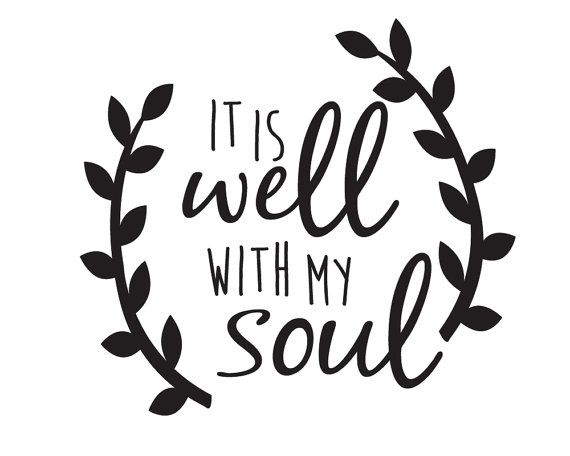 It Is Well With My Soul Decal Car Decal Car by TangledPonyDesigns