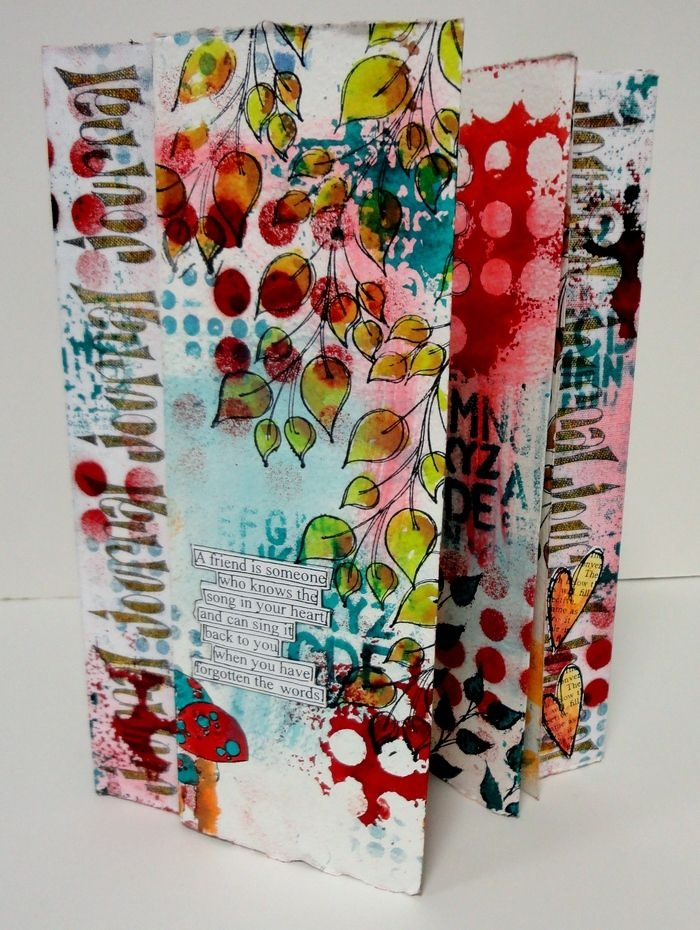 Stitched Canvas and Watercolour Book