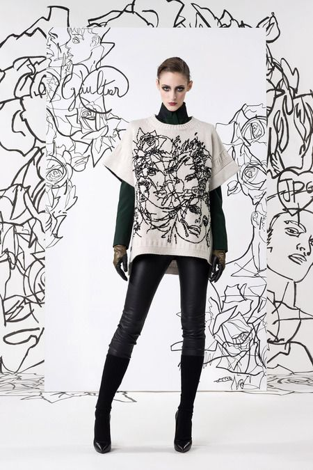 Sweater. Jean Paul Gaultier | Pre-Fall 2014 Collection | Style.com