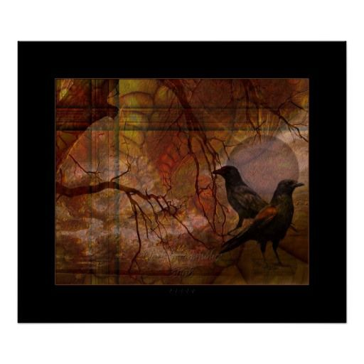 **SOLD** Ravens World Poster | Zazzle – many thanks to the buyer ! | artbymimulux showcase
