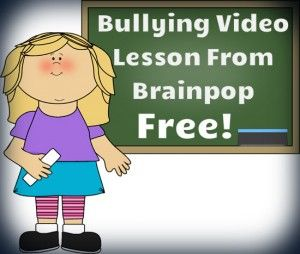 Wonderful video to teach children about different types of bullying  and how to deal with bullies. Free!