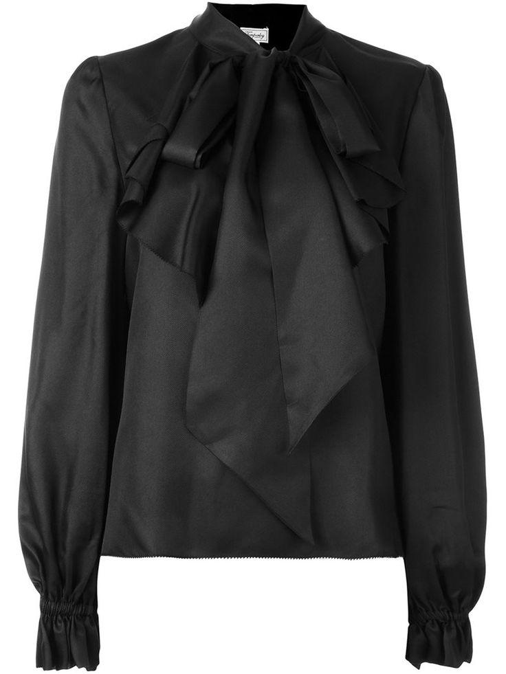 Temperley London 'Atlas' pussy bow blouse, Women's, Size: 10, Black