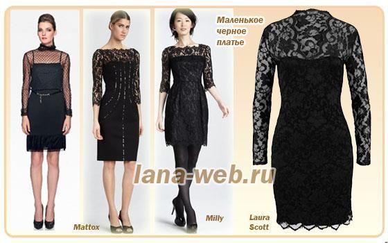 Платье с чёрного бархата с белым кружевом короткое