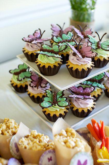 cupcakes de mariposa!