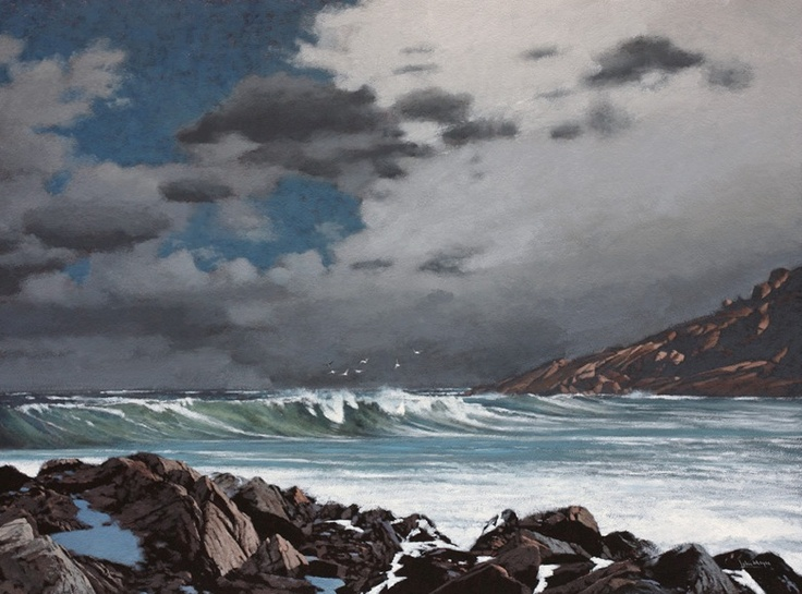 John Meyer / The Turn of the Tide / acrylic & sand on canvas / 115 x 155 cm