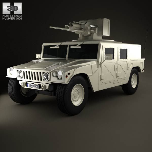 Hummer M242 Bushmaster 2011 3d model from humster3d.com. Price: $75