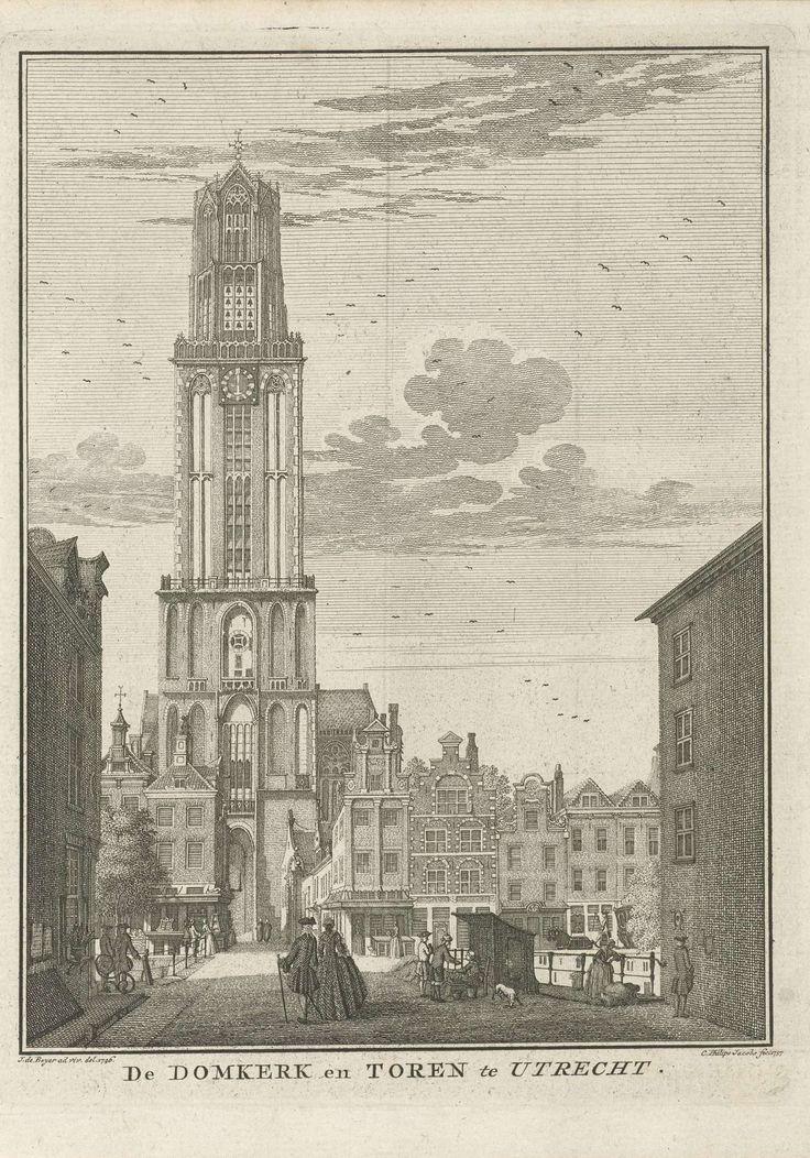 Gezicht op de Domtoren te Utrecht, Caspar Jacobsz. Philips, 1757