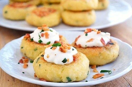 loaded mashed potato cakes | Recipes | Pinterest