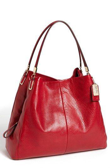 COACH 'Madison - Large Phoebe' Leather Shoulder Bag available at #Nordstrom