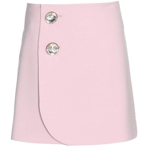 Marni Embellished Wool Skirt ($960) ❤ liked on Polyvore featuring skirts, marni skirts, pink wool skirt, marni, pink skirt and woolen skirts