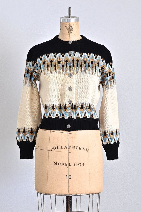 MEGA SALE... 45% OFF... 1950s norwegian sweater by PickledVintage