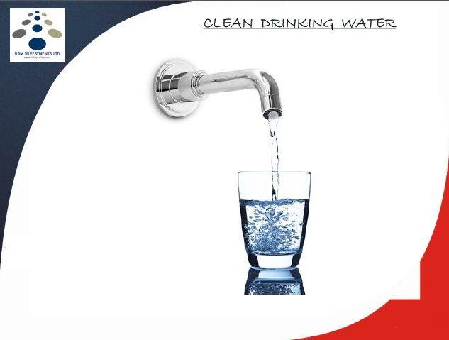 Agua para beber limpia. www.drmprefab.com
