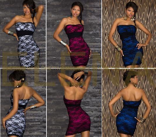 Mini Abiti Dancewear. € 26,50  Fantastico abito sexy è realizzato in morbidissima microfibra e pizzo di alta qualità dallo stupendo, senza spalline che conferisce eleganza e sensualità. Taglia unica 38/42. Semplicemente perfetto per accrescere il potere seduttivo di ogni donna in occasione di feste, discoteca, serate, eventi o...  Composizioni 100% polietere.  http://www.specialprezzi.com/department/33/Sexy-abbigliamento-ed-accessori.html?oid=1016_6