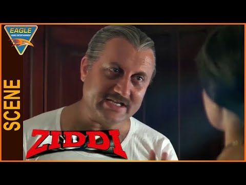 Ziddi Hindi Movie || Anupam Kher Talking With Wife || Eagle Hindi Movies