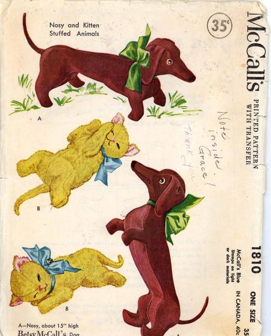 154 best Vintage Stuffed Animal Patterns images on Pinterest ...