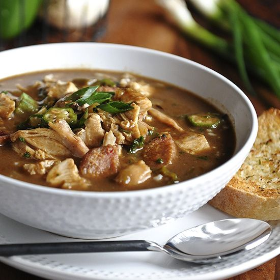 gumbo post sq 2 red by Salad in a Jar, via Flickr: Chicken, Sausage ...