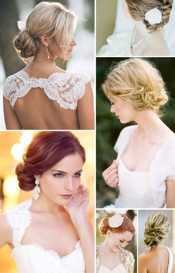 I like the bottom-left panel (the auburn-haired bride).  Would look great with the birdcage veil and the sparkly comb.