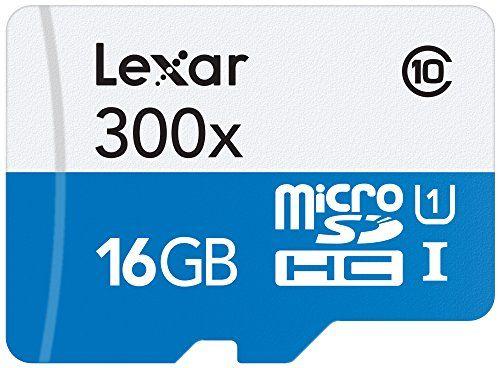 Lexar LSDMI16GBB1EU633R Carte Mémoire Flash MicroSDHC de Haute Performance Classe 10 UHS-I Vitesse 633x (95MB/s) avec Lecteur USB 3.0…