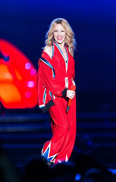 Kylie Minogue performs at The Dubai World Cup at Meydan on March 28 2015 in Dubai United Arab Emirates