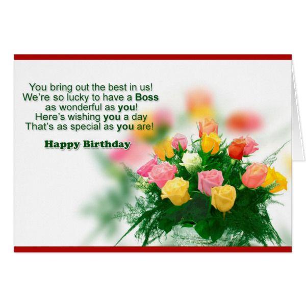 Happy Birthday Boss/n Card #cards #birthday #happybirthday