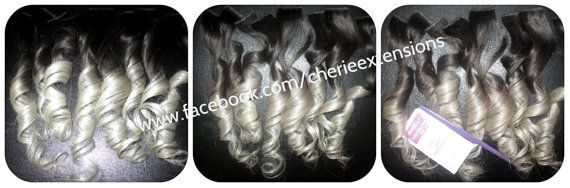 Human Hair Clip In Colourful Flashes Hair by CherieHairExtensions