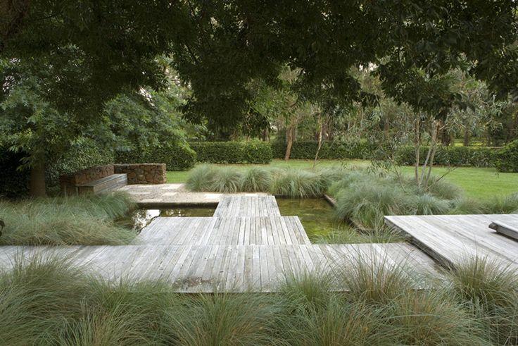 deck and grass