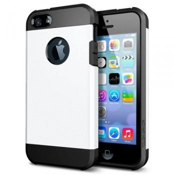 Tough Armor High Protection Case for iPhone 5 & 5S - White