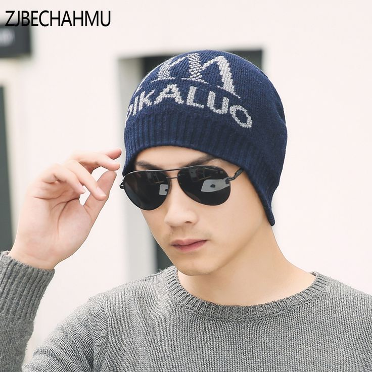 Casual Brand Mens Letter Winter Hat Beanie Hats Fur Warm Baggy Knitted Skullies Bonnet Ski Sports Adult Cap New Arrival Beanies