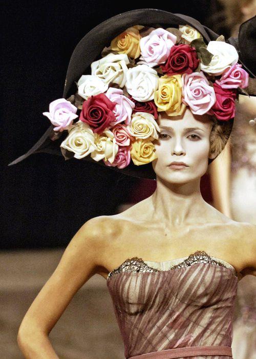 Hat of roses ~ Alexander McQueen