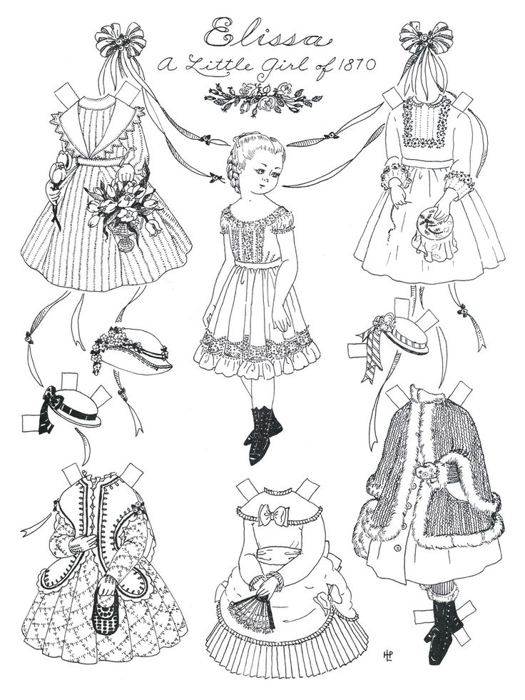 paper doll coloring pages are fun and interesting for children as they develop not only the sense of coloring in them but also provide the scope of playing