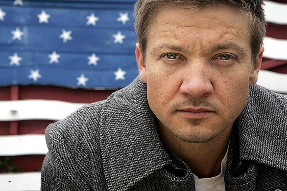 Jeremy Renner. Getting more recognition since his role in Mission Impossible: Ghost Protocol.