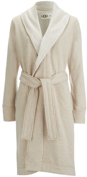 UGG Women's Heritage Comfort Duffield Dressing Gown Oatmeal Heather