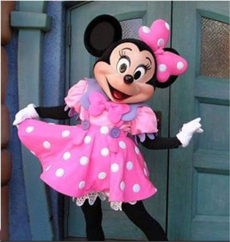 Cute Lovely Pink Minnie Mouse Mascot Costume Fancy Dress Adult