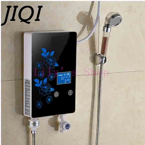 Instant Tankless Electric hot Water Heater Faucet Kitchen Instant Heating tap Shower Water heaters bathroom with LED EU US plug