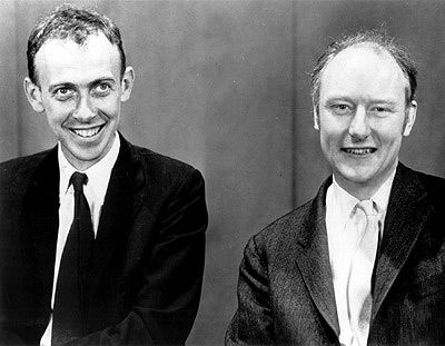 Francis Crick and James D. Watson: Discovery of the DNA helical structure - Gonville and Caius College (1950)