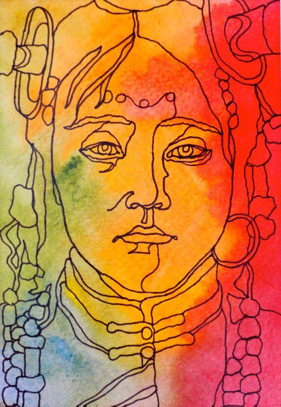 Contour Line Drawing Of A Face : Best continuous contour line portraits images on pinterest