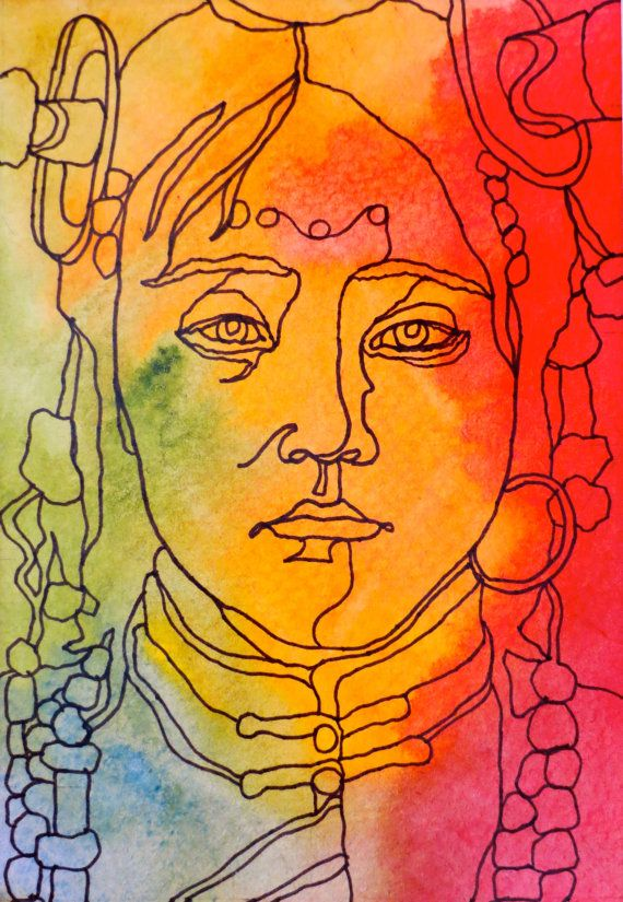 Abstract Face Line Drawing : Images about abstract expression portraits on