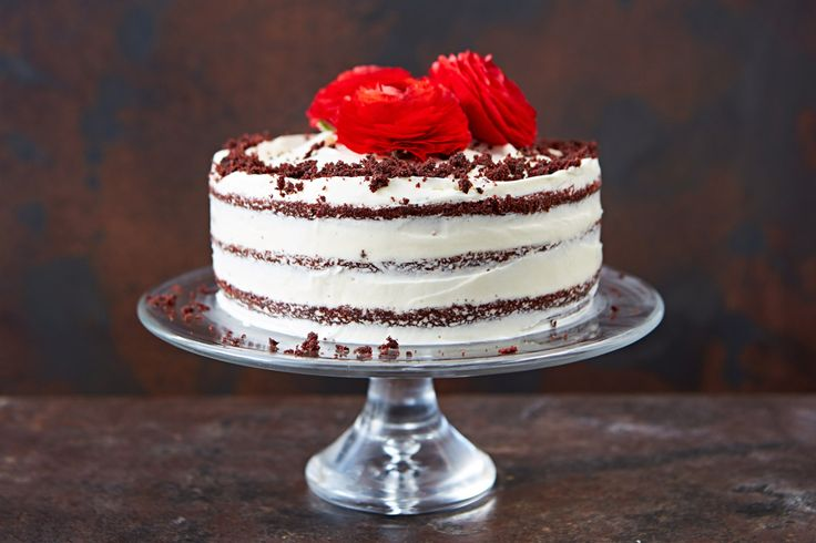 Smooth, chocolatey sponge smothered with rich buttercream icing – Georgina Hayden shows you how to make red velvet cake, step by step.